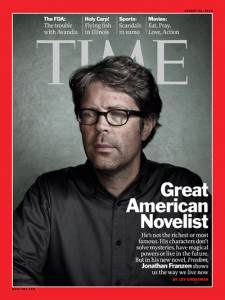 Johatahn Franzen on the cover of Time