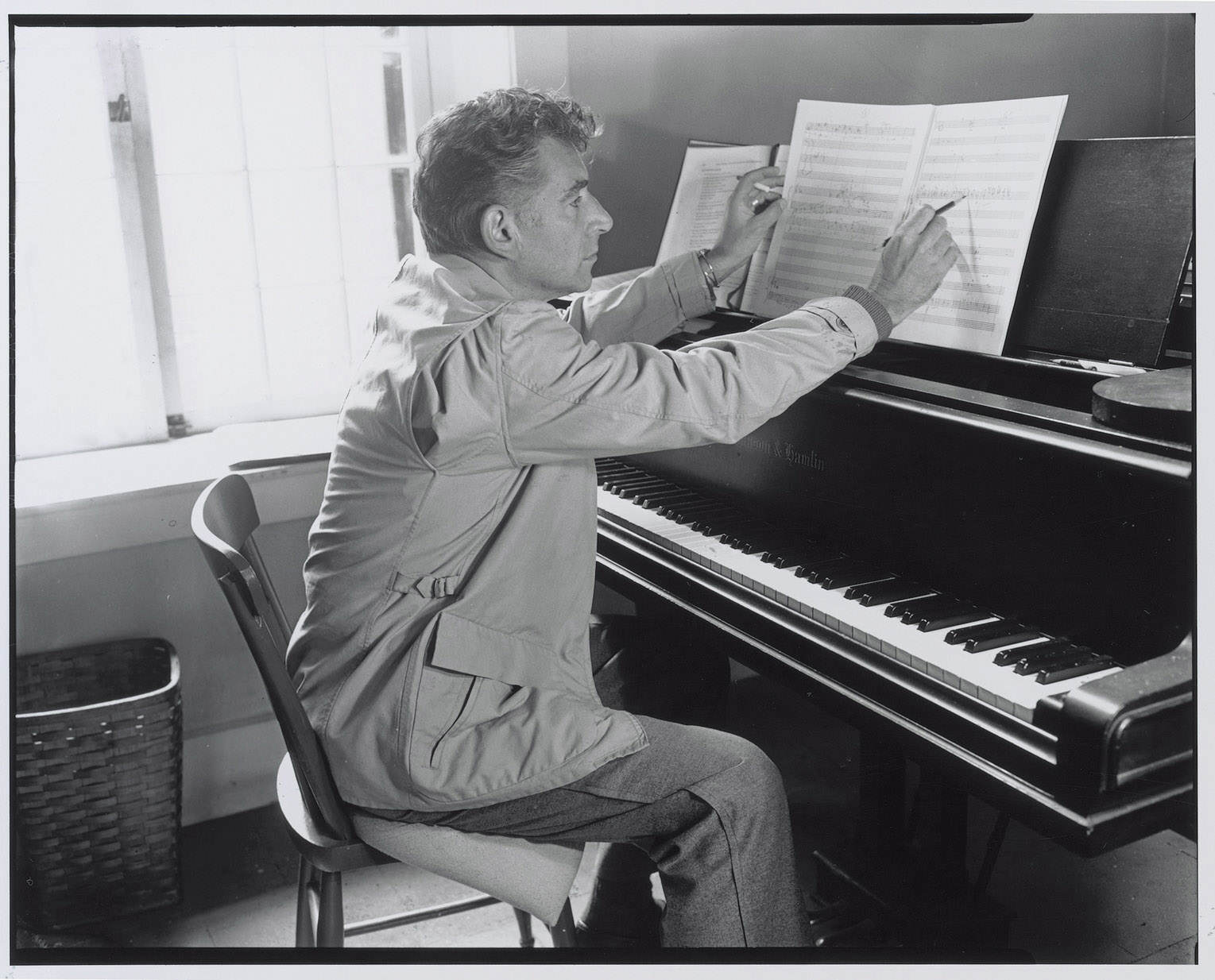 Leonard Bernstein working at the MacDowell Colony