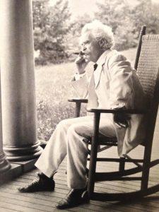 Mark Twain, author.